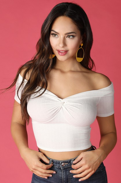 Off Shoulder Twist Top - orangeshine.com