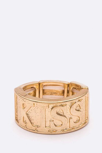 KISS Stretch Gold Ring - orangeshine.com