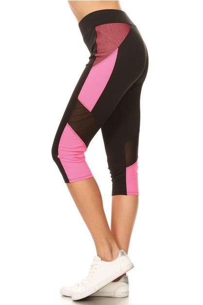 Color blocked yoga capri - orangeshine.com