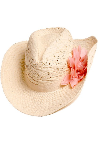 Paper Woven Hat with Flower - orangeshine.com