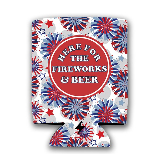 Here for Fireworks Koozie - orangeshine.com