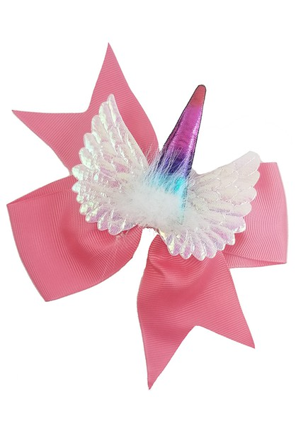Unicorn Hair Bow - orangeshine.com