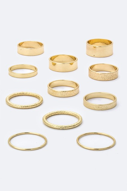 Assorted Metal Rings Set - orangeshine.com