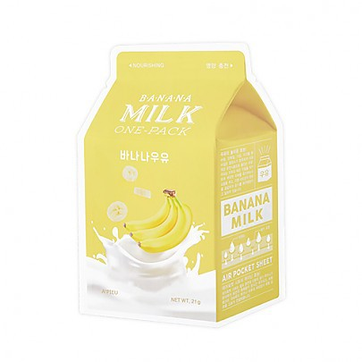 [A`PIEU] Milk One Pack #Banana Milk - orangeshine.com