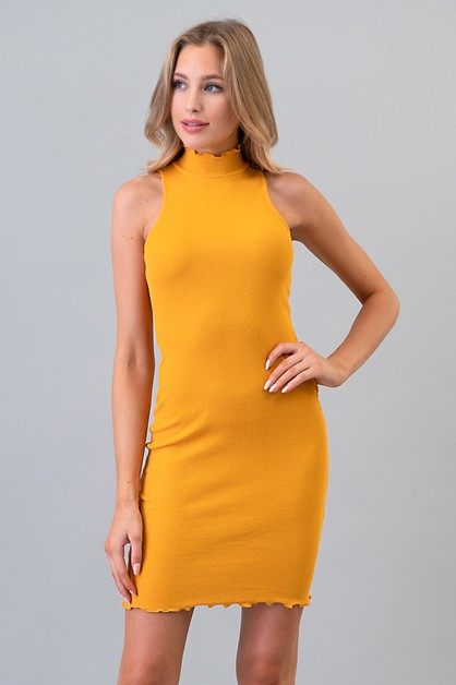 MERROW SLEEVELESS RIB MINI DRESS - orangeshine.com