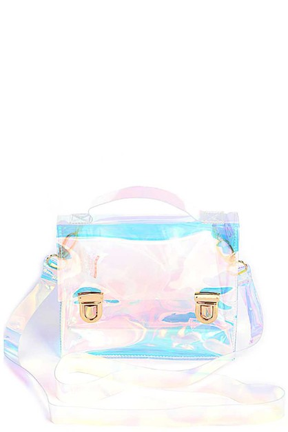 HOLOGRAM TINT SATCHEL BAG - orangeshine.com
