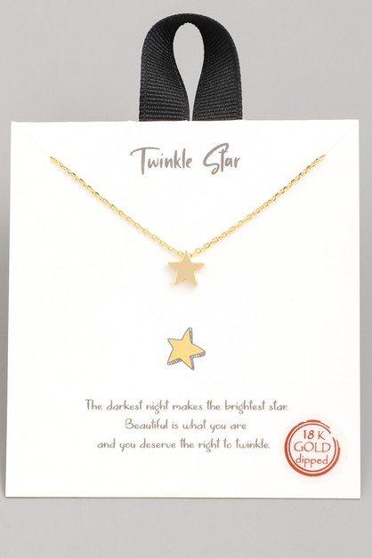 Twinkle Star Pendant Necklace - orangeshine.com
