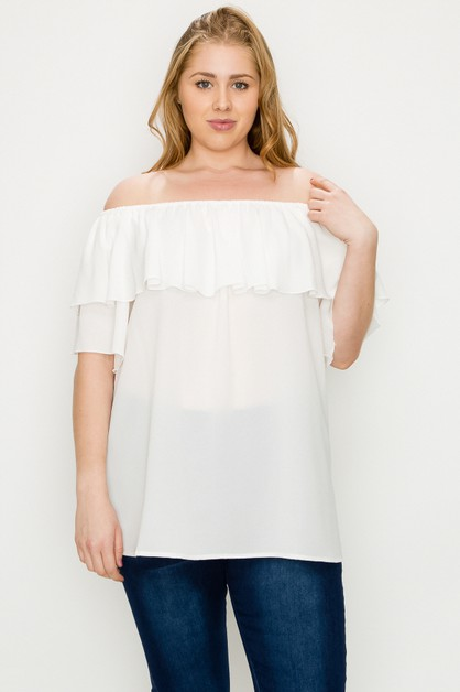 Plus Size Koshibo Solid Top - orangeshine.com