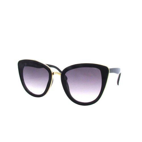 Oversized Women Cat Eye Flat Lens Su - orangeshine.com