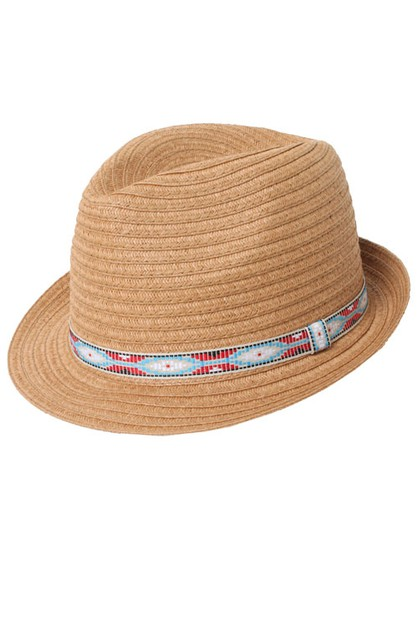 Wide Paper Braid Fedora - orangeshine.com