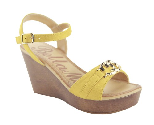 Platform Wedge Ankle Strap Sandals - orangeshine.com