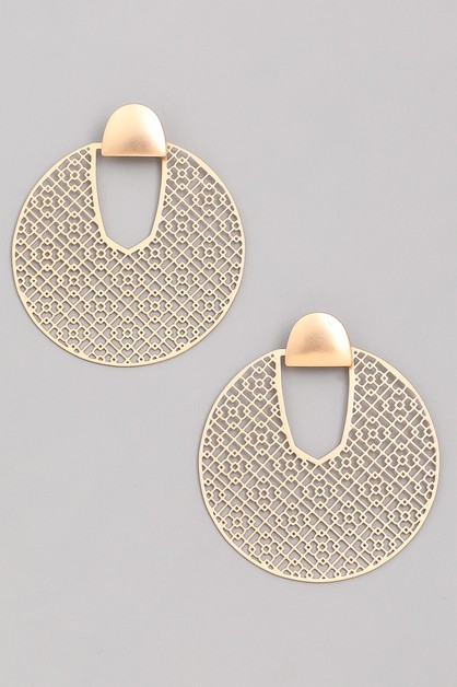 Circle Filigree Earrings - orangeshine.com