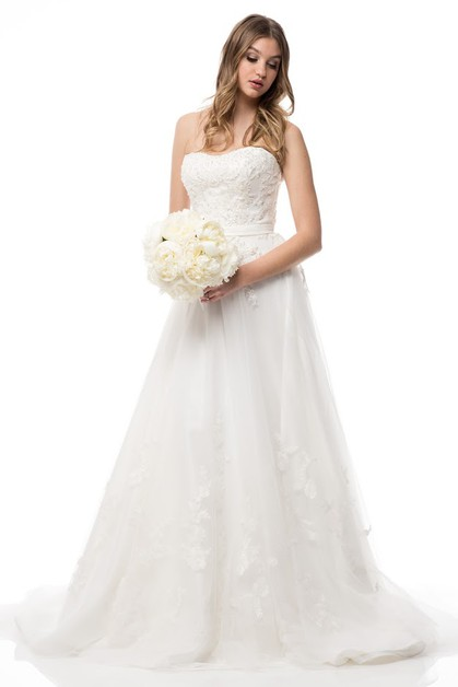 Sleeveless Bridal Dress - orangeshine.com