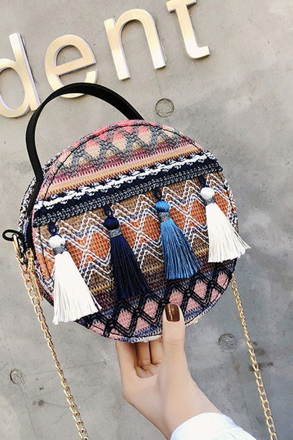Woven Straw 2-Way Bohemian Satchel - orangeshine.com