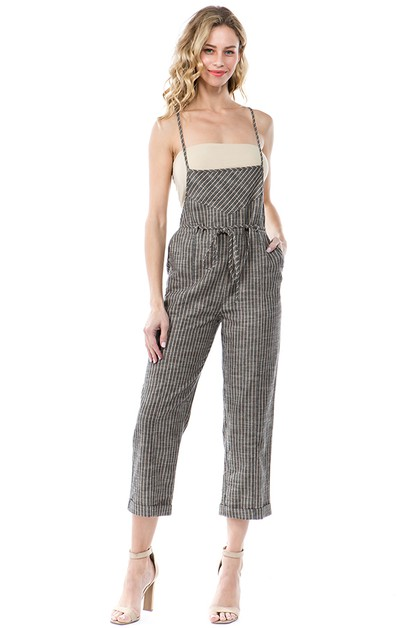 STRIPED SQUARE NECK JUMPSUIT - orangeshine.com