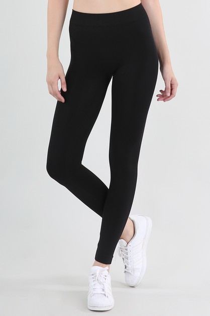 Solid Thick Leggings - orangeshine.com