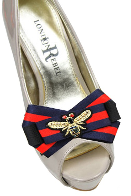 Fashion Bee Bow Shoe Strap Accessory - orangeshine.com