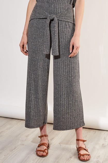 BELTED KNIT PANTS - orangeshine.com