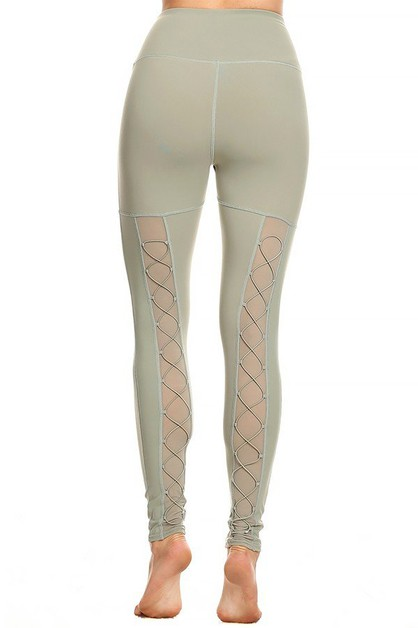 Back Lace Up legging - orangeshine.com