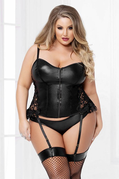 Two Piece Bustier Set with Panty - orangeshine.com