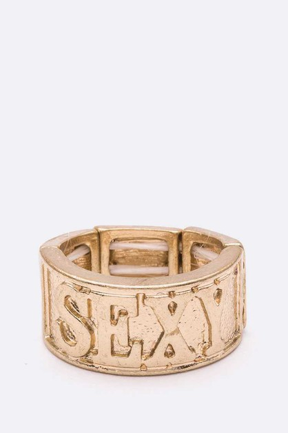 SEXY Hiphop Gold Ring - orangeshine.com