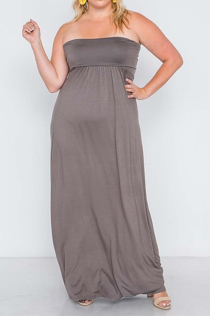 OFF SHOULDER BABY DOLL PLUS MAXI DRE - orangeshine.com