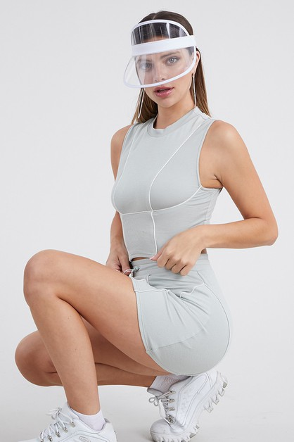 Sporty top and mini skirt set - orangeshine.com