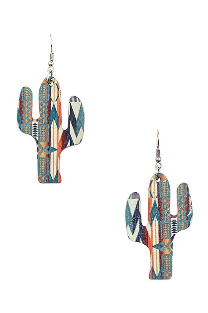 CACTUS DANGLE EARRING - orangeshine.com