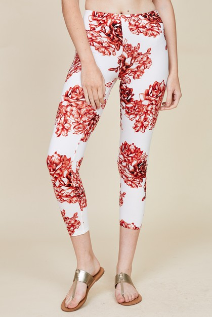 FLORAL FITTED LEGGINGS - orangeshine.com
