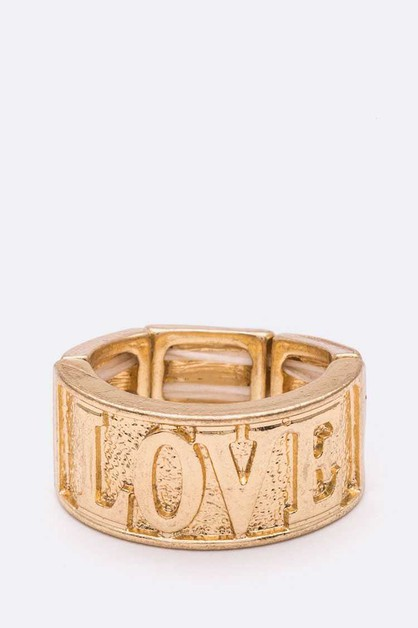 LOVE Stretch Gold Ring - orangeshine.com