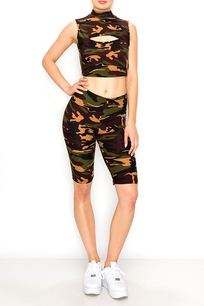 Army printing fashion set  - orangeshine.com