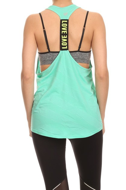 Solid Sports Tank Tops Active Shirts - orangeshine.com