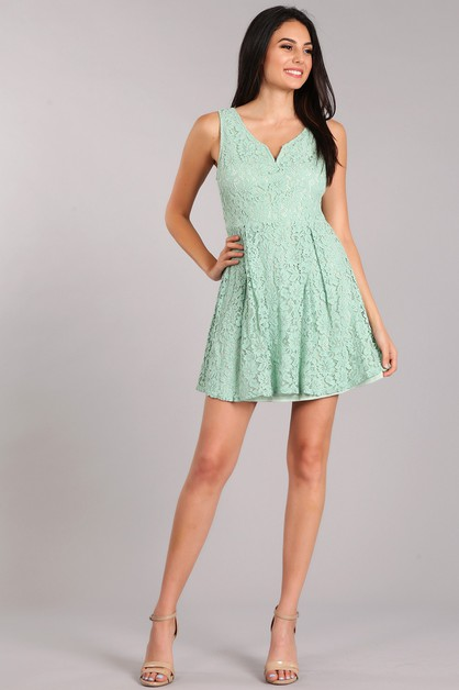 Lace Skater Dress - orangeshine.com
