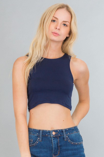 Solid Crop Top - orangeshine.com