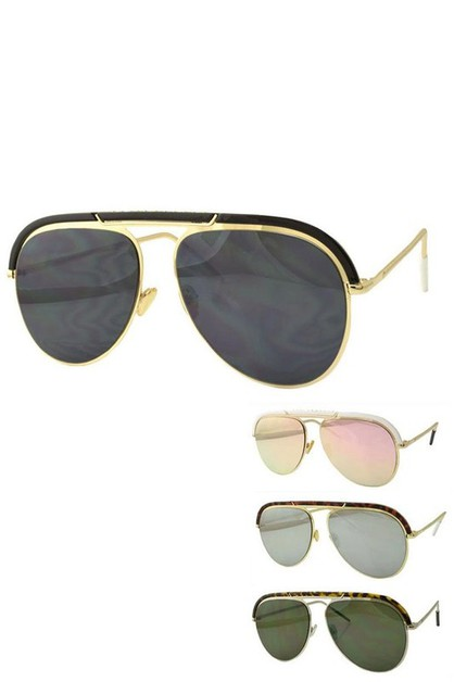 Top Bar Aviator Sunglasses Set - orangeshine.com