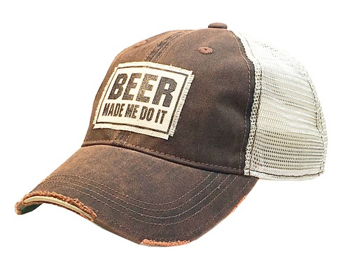 Beer Made Me Do It Trucker Hat - orangeshine.com