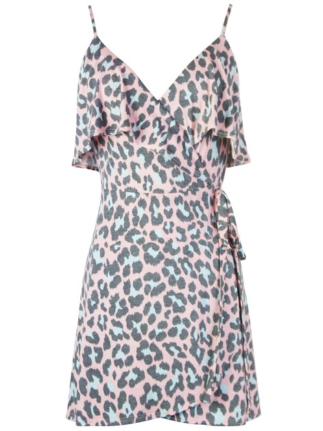 Animal Wrap Dress - orangeshine.com