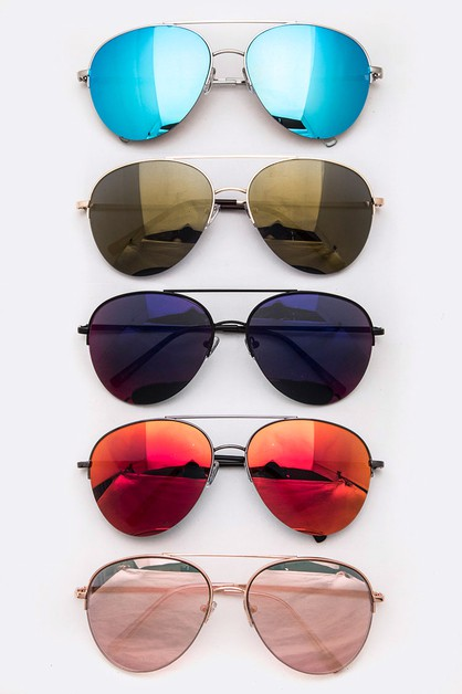 RV Color Lens Aviator Sunglasses Set - orangeshine.com