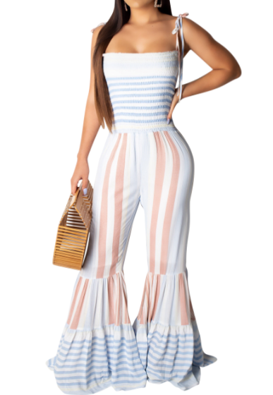 Thin Straps V-neck Jumpsuits - orangeshine.com