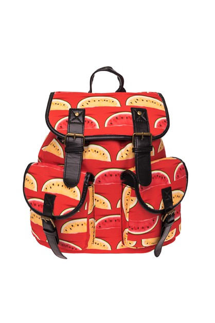 YELLOW WATERMELON Printed BACKPACK - orangeshine.com