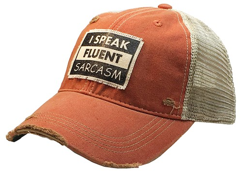 I Speak Fluent Sarcasm Trucker  - orangeshine.com