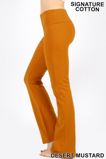 FOLD-OVER YOGA PANTS - orangeshine.com