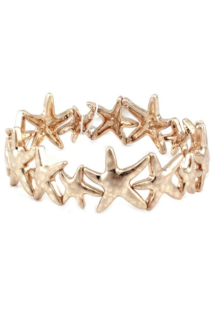 Metal Starfish Stretchable Bracelet - orangeshine.com