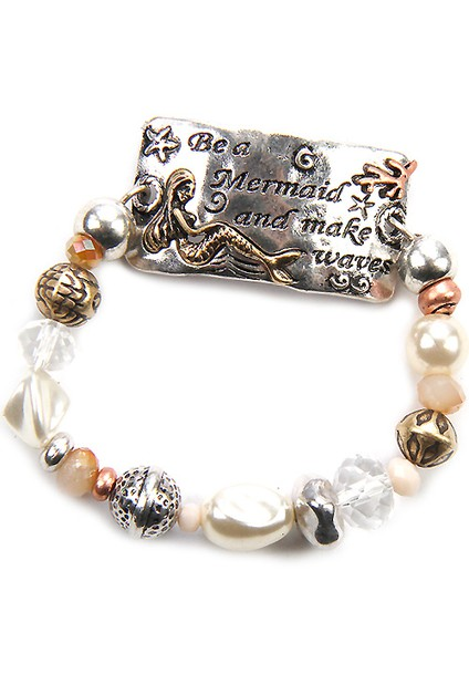 Mermaid Stretch Metal Bracelet - orangeshine.com