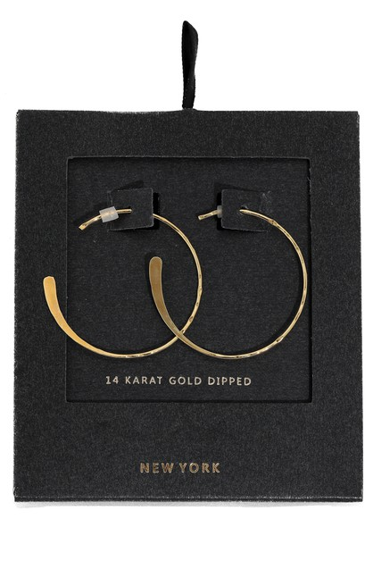 Dainty Gold Dipped Hoop Earrings - orangeshine.com