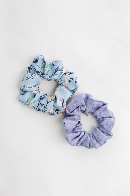 Chambray Hair Scrunchie - orangeshine.com