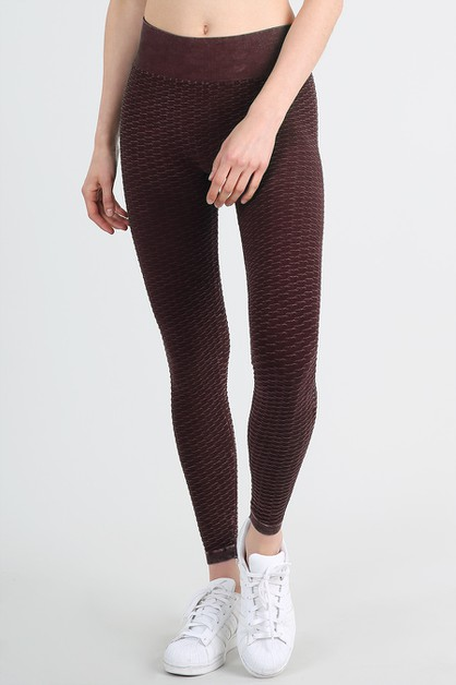 Vintage Embo Waves Leggings - orangeshine.com