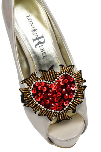 Fashion Heart Shoe Accessory - orangeshine.com