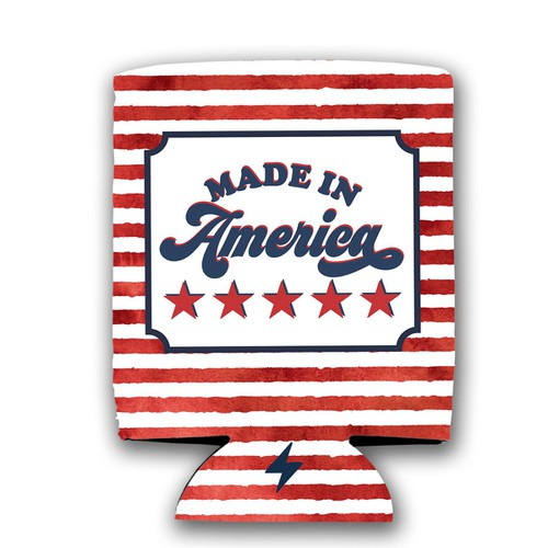 Made in America Koozie - orangeshine.com