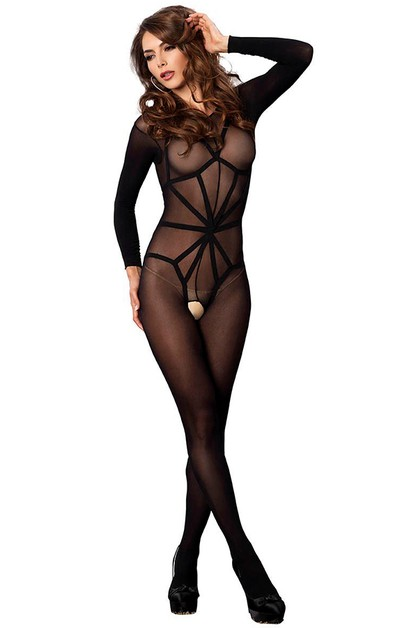Harness Teddy Overlay Bodystocking - orangeshine.com